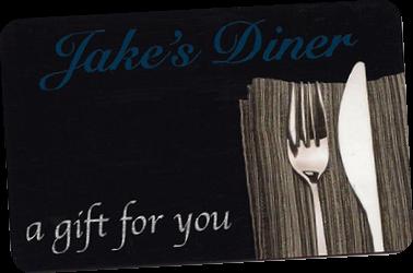 Jake's Diner Gift Card